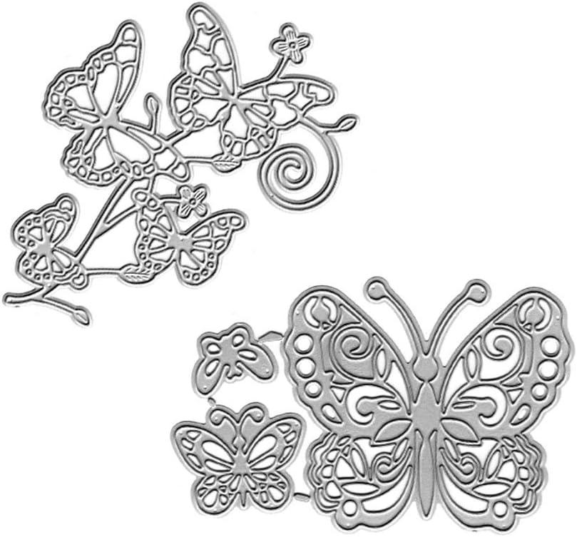 SunYueY Mariposa De Corte Muere DIY Scrapbooking Tarjetas De Papel Photo Craft Stencil Molde, Haga Su Vida Llena De Buenos Recuerdos: Amazon.es: Hogar