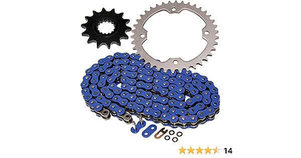 Conjunto de cadenas Yamaha Raptor YFM 700 R tuning doblemente refuerza azul