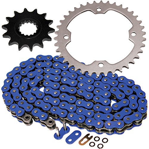 - Caltric O-Ring Blue Drive Chain & Sprockets Kit Fits YAMAHA RAPTOR 700R YFM700R YFM-700R 2006-2014