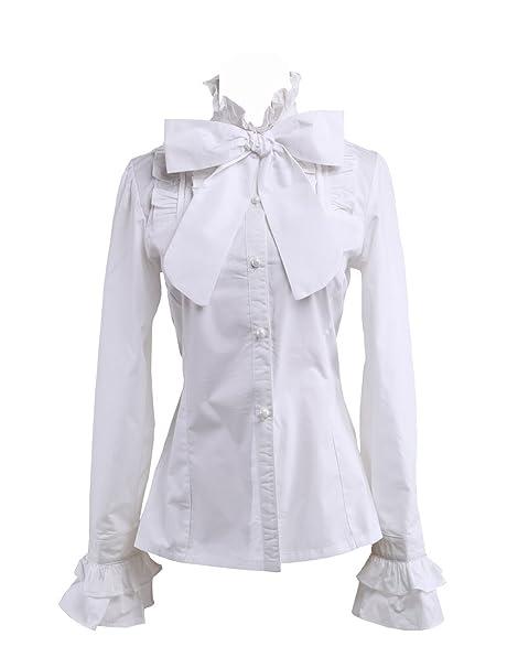 nuovo di zecca 0ef39 592e1 an*tai*na* Camicia Tradizionale Lolita vittoriana in Cotone ...