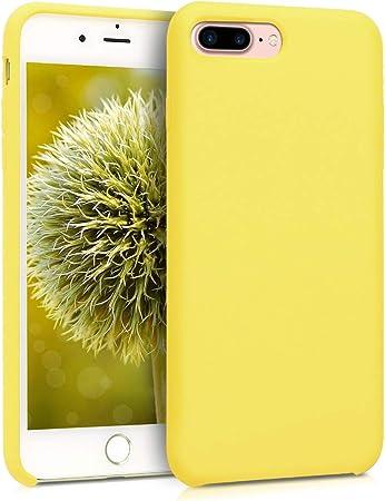 kwmobile Cover Compatibile con Apple iPhone 7 Plus / 8 Plus - Custodia in Silicone TPU - Back Case Protezione Cellulare Giallo Pastello