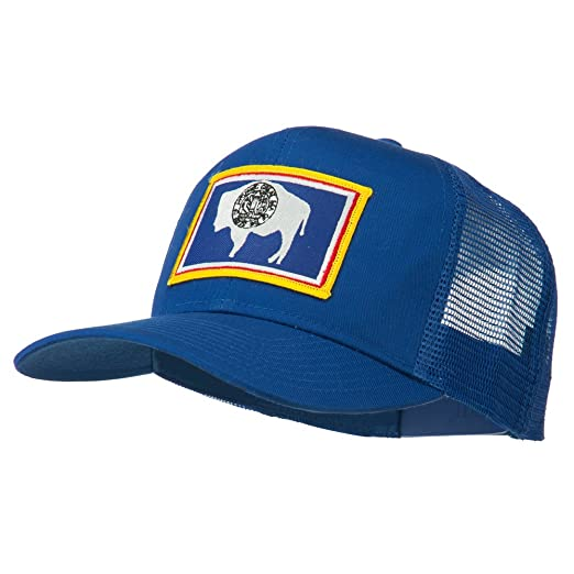 E4hats Wyoming State Flag Patched Mesh Cap - Royal OSFM at Amazon ... 2a4f0910b