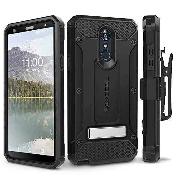 quality design 182e1 bcec9 LG Stylo 4 Case, Evocel [Explorer Series Pro] Premium Full Body Case with  Glass Screen Protector, Belt Clip Holster, Metal Kickstand for LG G Stylo 4  ...