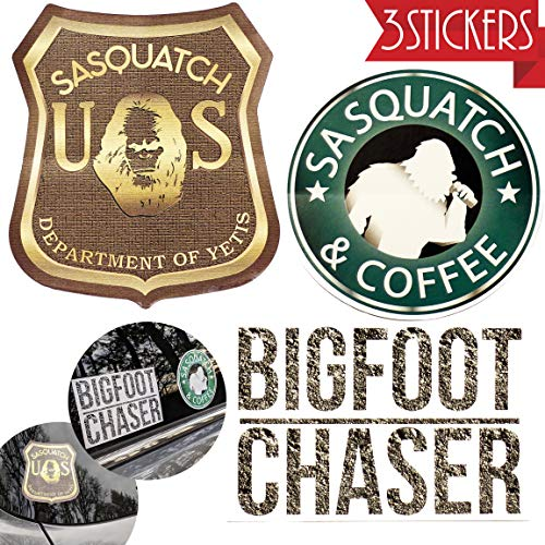Bigfoot Sticker Pack, 6 Inch Car Stickers, Weatherproof Vinyl 3 Pack, Designed in Oregon, Bumper Stickers, Car Decal, Truck Stickers