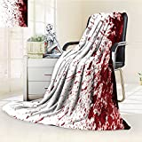 "300 GSM Fleece Blanket dry blood splatter Super Soft Warm Fuzzy Lightweight Bed or Couch Blanket(90""x 70"")"