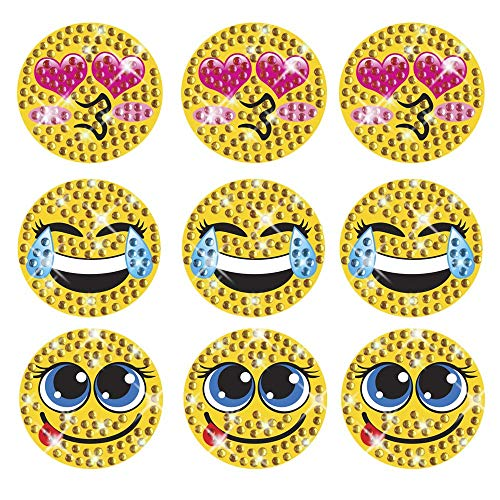 Sticker Bling Bling Gemz Crystal Rhinestone Mini Emoji Trio 3 Pack Perfect for Phone, Gear or as a Gift