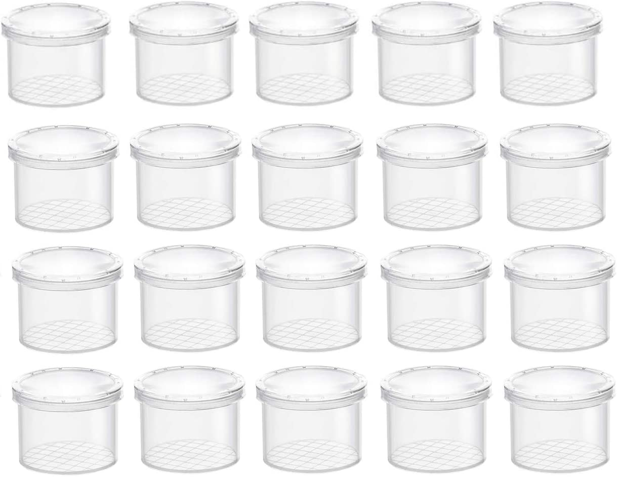 Kids Science Nature Exploration Toys Coopay 20 Pieces Bug Viewer Critter Insect Cage Magnifying Insect Box Bug Magnifier Container Bug Catcher Cage