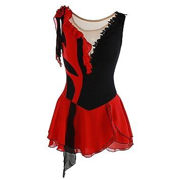 Amazon.com : NYW Figure Skating Dress for Girls, Handmade ...