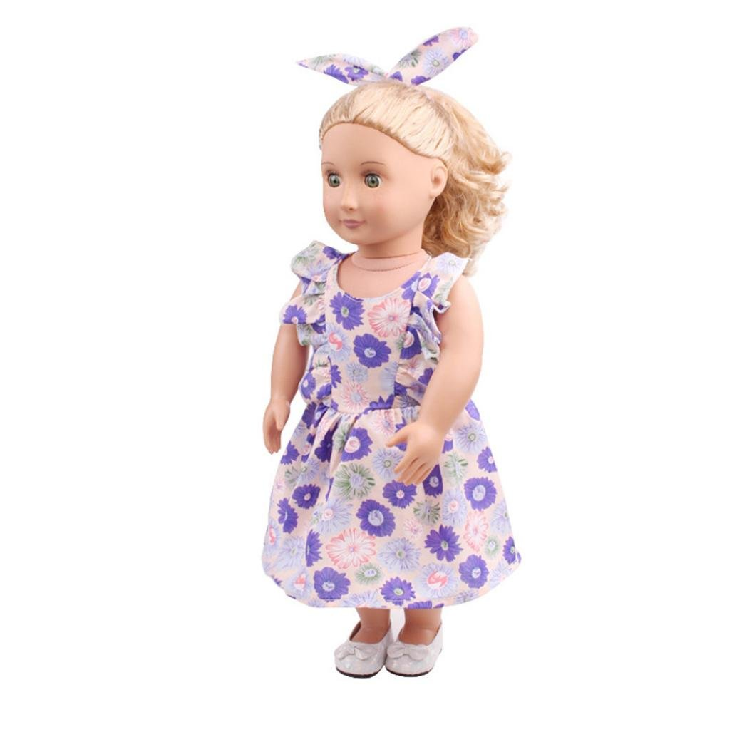 24c6e472df2 Modeling category  the United States girls doll clothing. ♥ A set includes  Headband + Skirt .