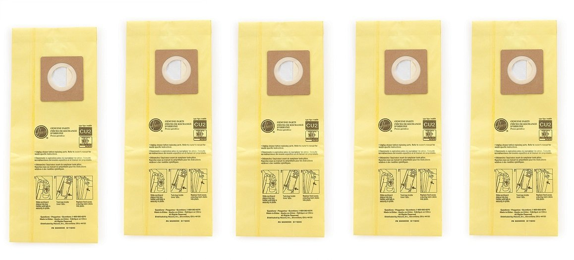 Hoover Commercial AH10243 Upright Bags for HushTone, Allergen Filtration (Pack of 10) (5 X Pack of 10)