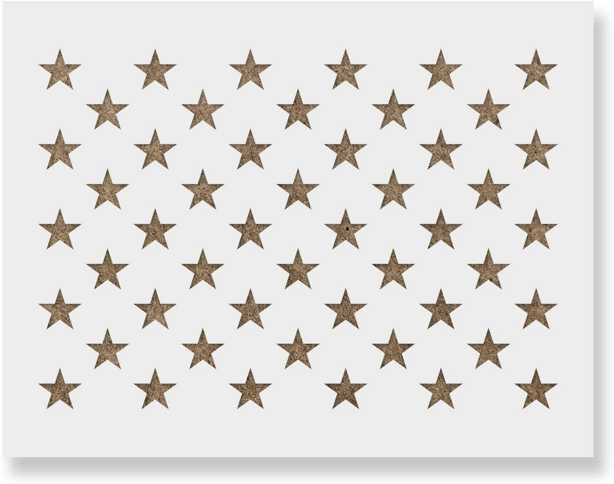 50 Stars Stencil - Reusable Stencils for Painting - Create DIY American Flag Crafts and Decor
