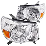 toyota tacoma chrome parts - Spec-D Tuning 2LH-TAC06-RS Toyota Tacoma Chrome Crystal Headlights Clear Head Lamps Pair