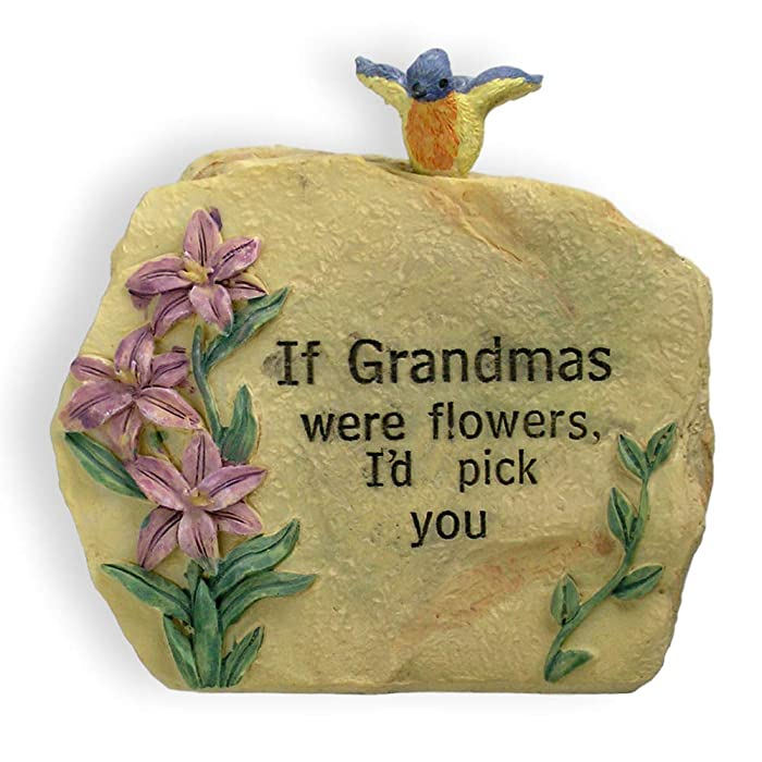 """BANBERRY DESIGNS Unique Gift for Grandma Message Stone 3 1/2"""" H - If Grandmas were Flowers, I'd Pick You Engraved on Front - Gift for Grandma - New Grandmother - Grandma-to-be - Nana"""