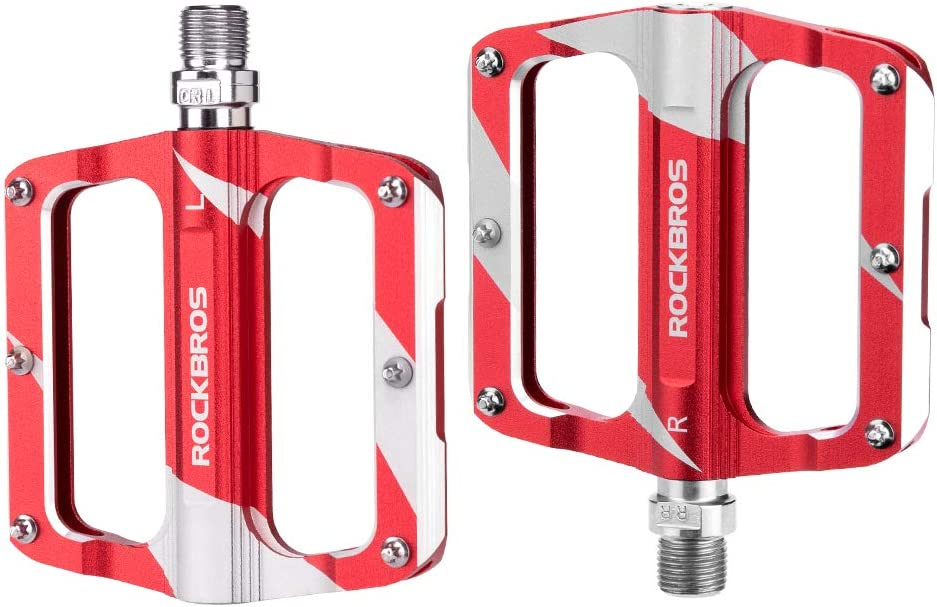 ROCKBROS Mountain Bike Pedals Flat Bicycle MTB Pedals 9//16 Lightweight Road Bike Pedals Carbon Fiber Sealed Bearing Flat Pedals