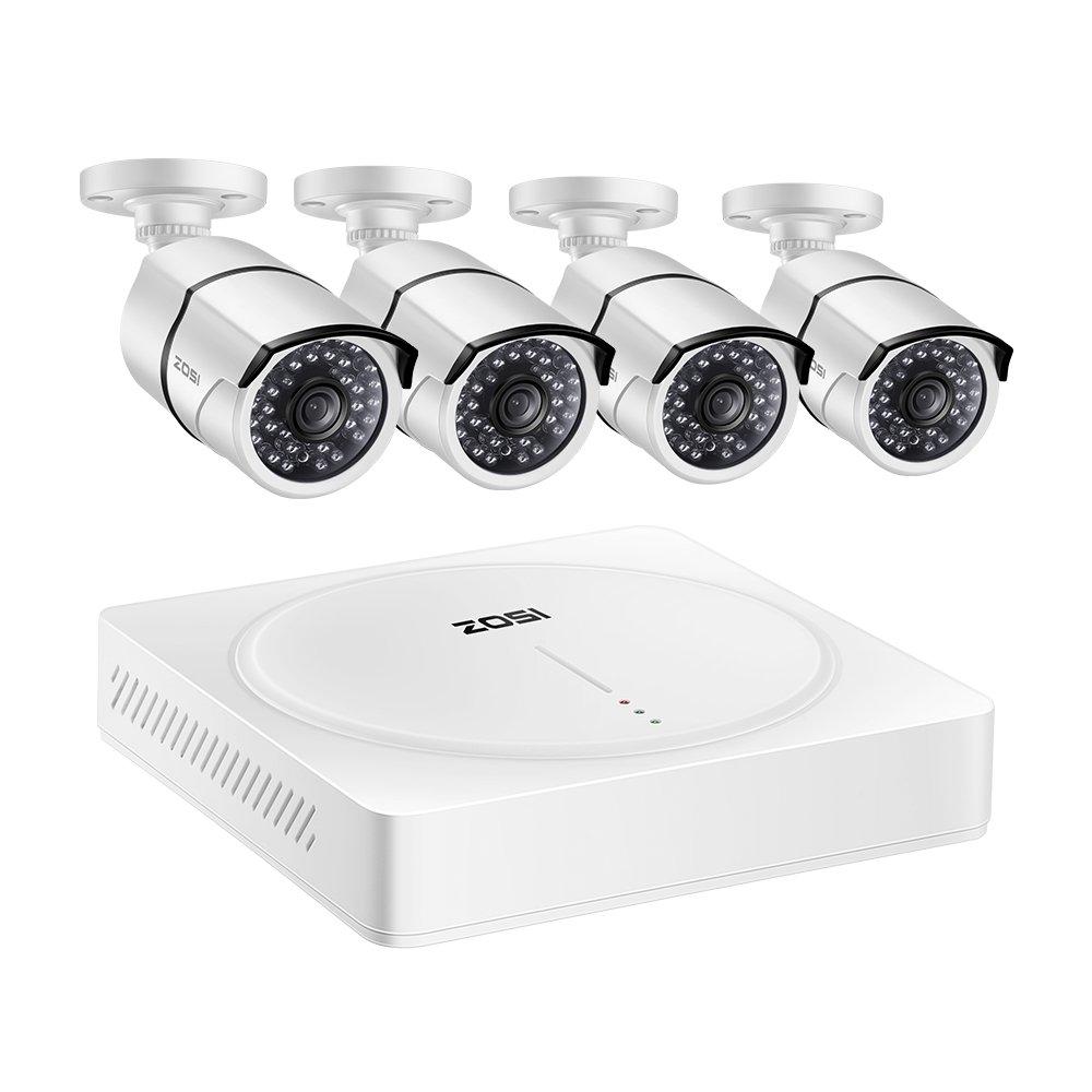 C/ámara de Vigilancia Exterior ZOSI Sistema de C/ámaras de Seguridad 5MP CCTV Kit de Vigilancia 8CH Ultra HD Grabador DVR 2TB Disco Duro + 8 Acceso Remoto