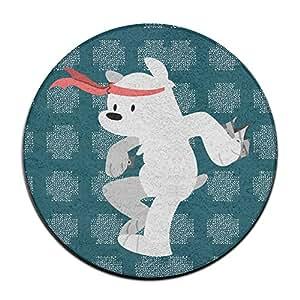 yellownn We desnudas osos redondo Doormats/entrada alfombra alfombrillas Doormats