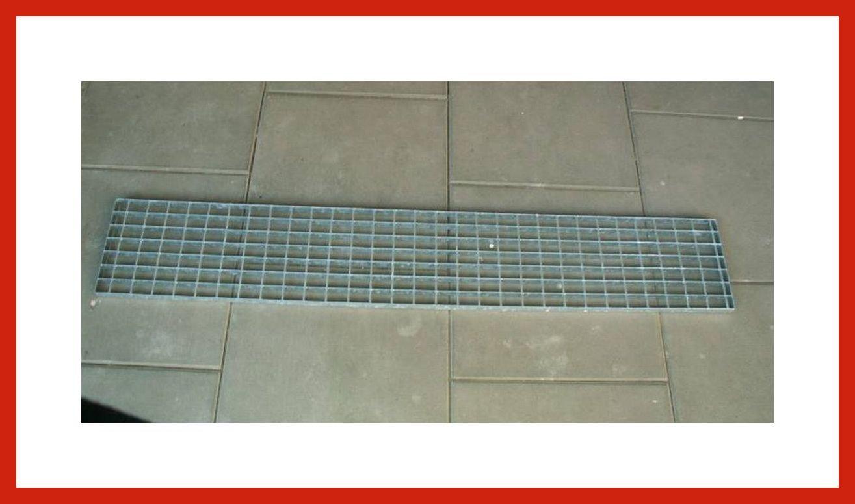 Verzinkt ca Gitterrost Laufrost Stahl 25 cm breit in 42 bis 200 cm L/änge 150 cm