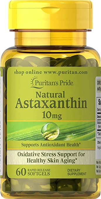 Image Unavailable. Image not available for. Color: Puritans Pride Natural Astaxanthin 10 mg-60 Softgels