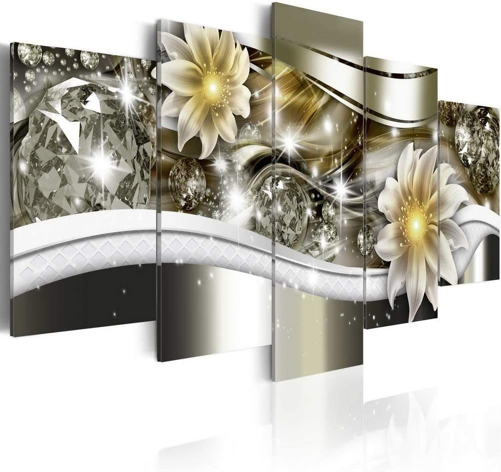 Flowers Canvas Art Wall Decor for Bedroom Framed Modern Floral Prints Artwork 5pcs Picture Home Decoration