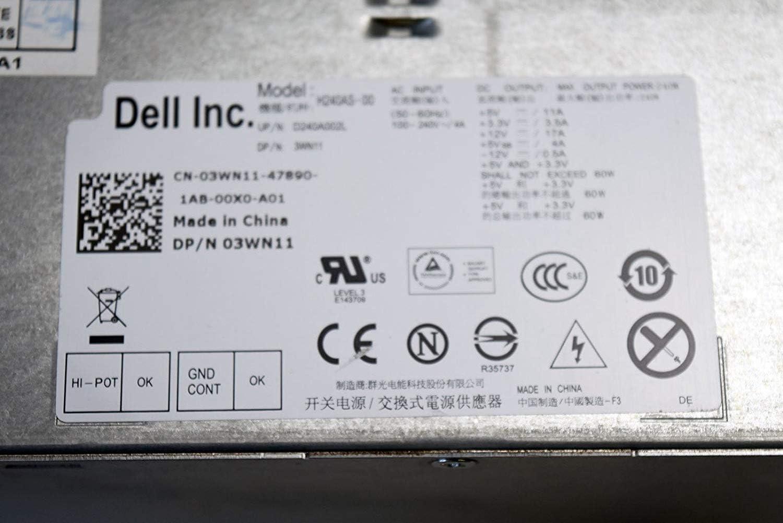 Dell Inspiron 3650 Optiplex 3040 5040 7040 240W Power Supply AC240NM 0706M THRJK