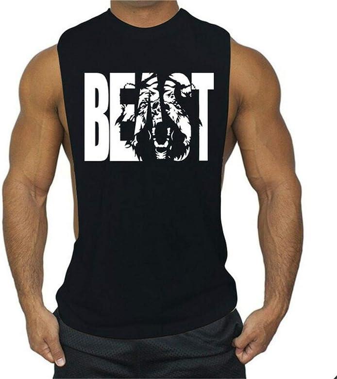 Hombre Slim Fit Tank Top Casual Algodón Camisetas Sin Mangas de Tirantes Deportes Gimnasio Delgado Sport Muscle: Amazon.es: Ropa y accesorios