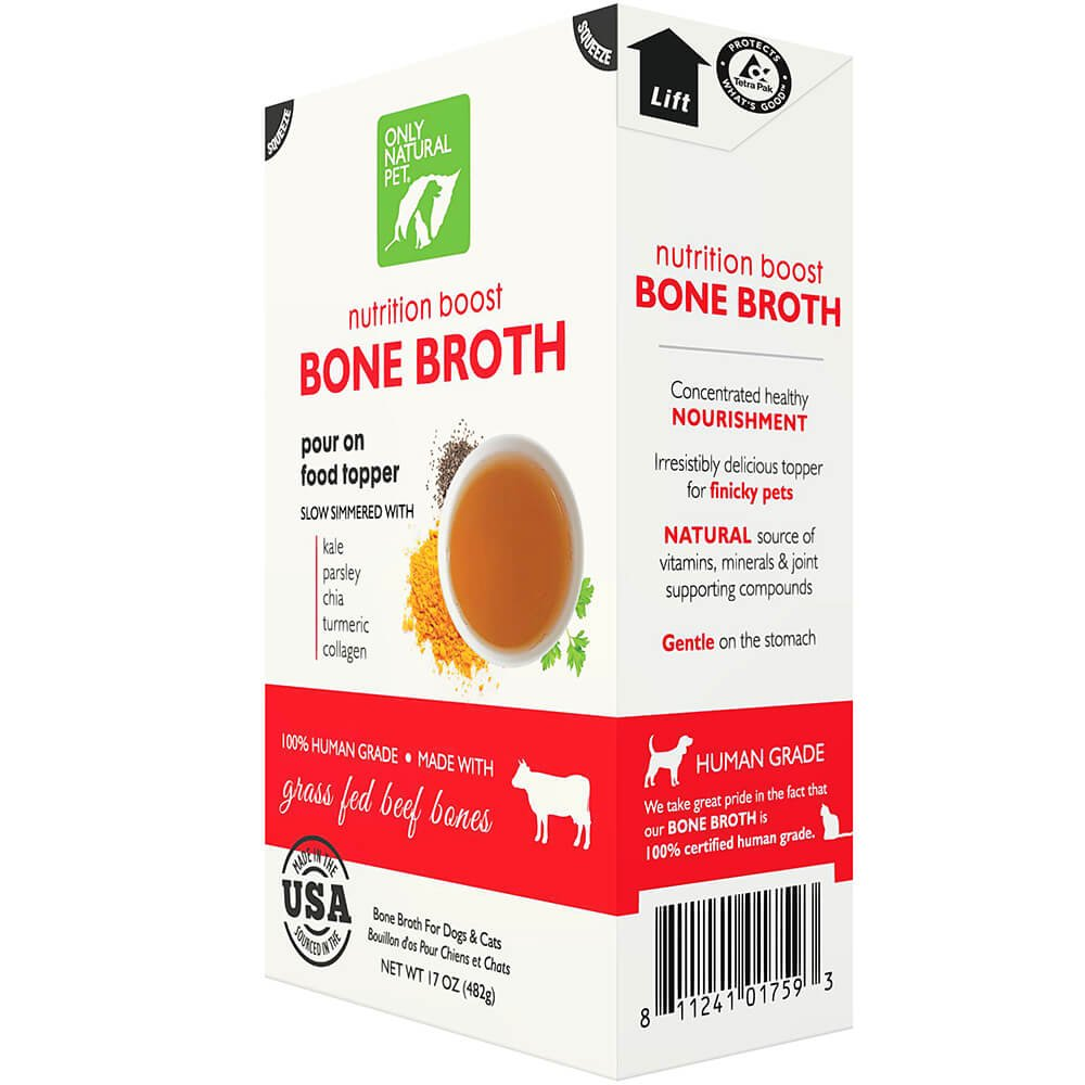 Only Natural Pet Grass Fed Beef Bone Broth 17 oz 12 Case by Only Natural Pet (Image #6)