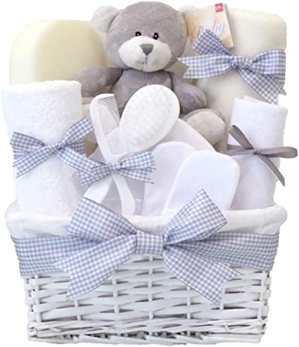 BOY NEW BORN BABY SHOWER GIFT BASKET GIFT HAMPER MATERNITY MOTHERS GIFT.