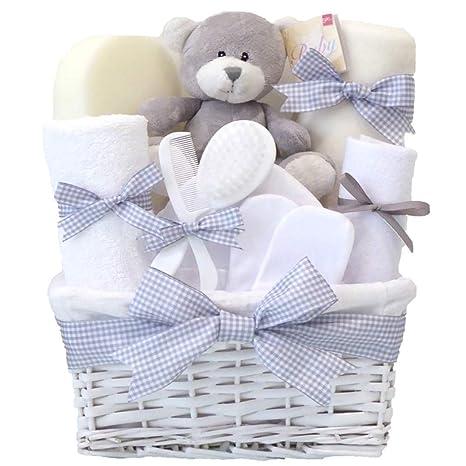 Shimmer Newborn Unisex Baby Gift Hamper Basket Set Boy Girl⼁Grey Unusual Gender Neutral New