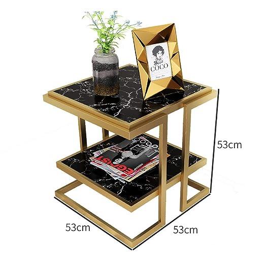 Mesa de centro cuadrada de mármol con tapa de extremo Mesa de café ...