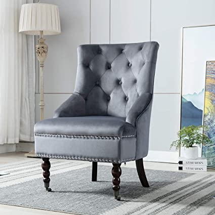 Awe Inspiring Exqui Velvet Bedroom Chair Padded Accent Chair Highback Sofa Pdpeps Interior Chair Design Pdpepsorg