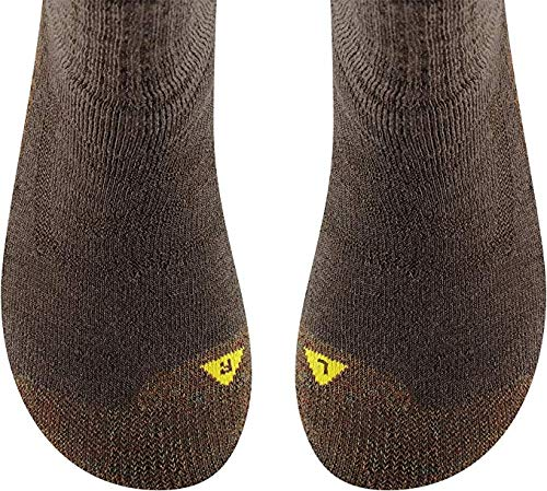 Womens North Country Medium Thickness Crew Sock Black Olive//Lod with a Sock Ring