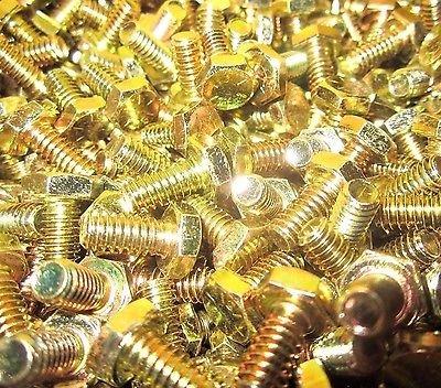 100 3//8-16 X 3//4 Hex Head Cap Screws Grade 8 Zinc Yellow 100 Pieces