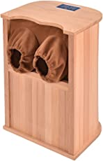 allgoodsdelight365 Infrared Wooden Foot Sauna Dry Bath Health Spa & Therapy w/Carbon Fiber Heaters