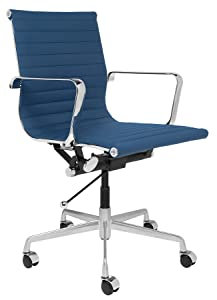 SOHO Ribbed Management Office Chair (Blue)