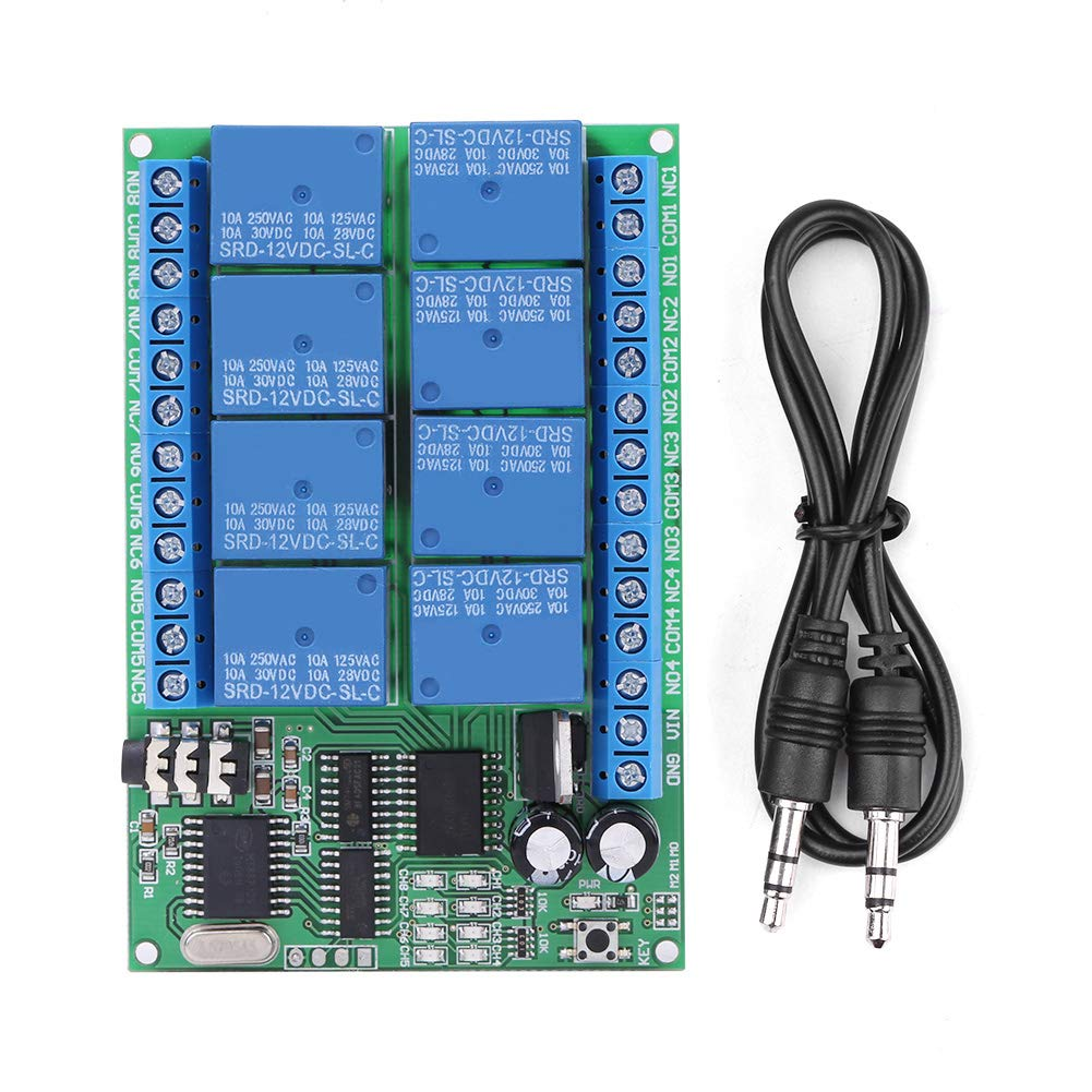 Yinhing Phone Voice, Relay Module DC 12V 8CH DTMF Relay Phone Voice Decoder Remote Controller Switch Module by Yinhing
