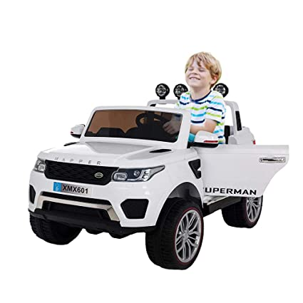 COLORTREE Electric Ride On Car Two Seater Truck With Remote Control For Kids