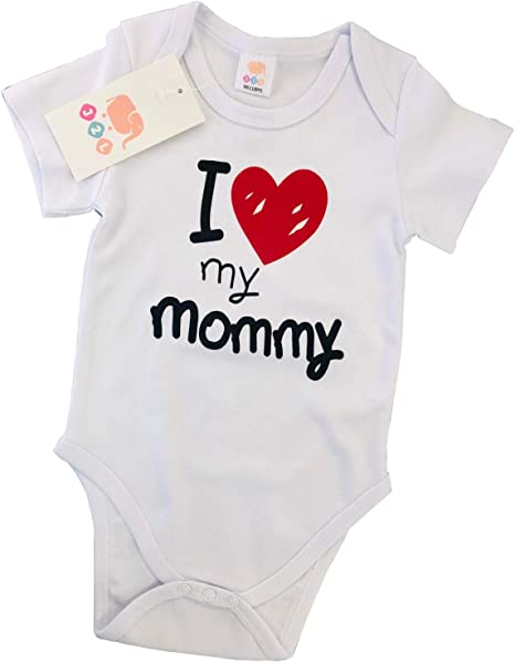 J2L Body para bebé I Love My Mommy de algodón 100, 3 – 24 Meses ...
