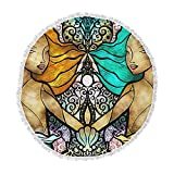 KESS InHouse Mandie Manzano Mermaid Twins Round Beach Towel Blanket