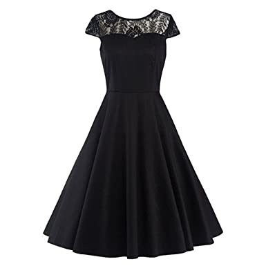 AUUOCC in Stock Dark Red Cocktail Dresses Elegant Short Little Black Dress Lace Formal Dresses Cheap