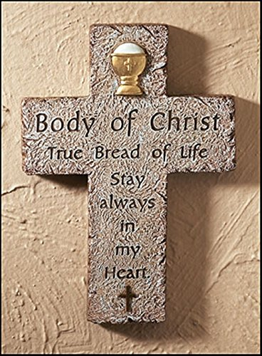 Body of Christ First Communion Resin Wall Cross, 6 Inch -