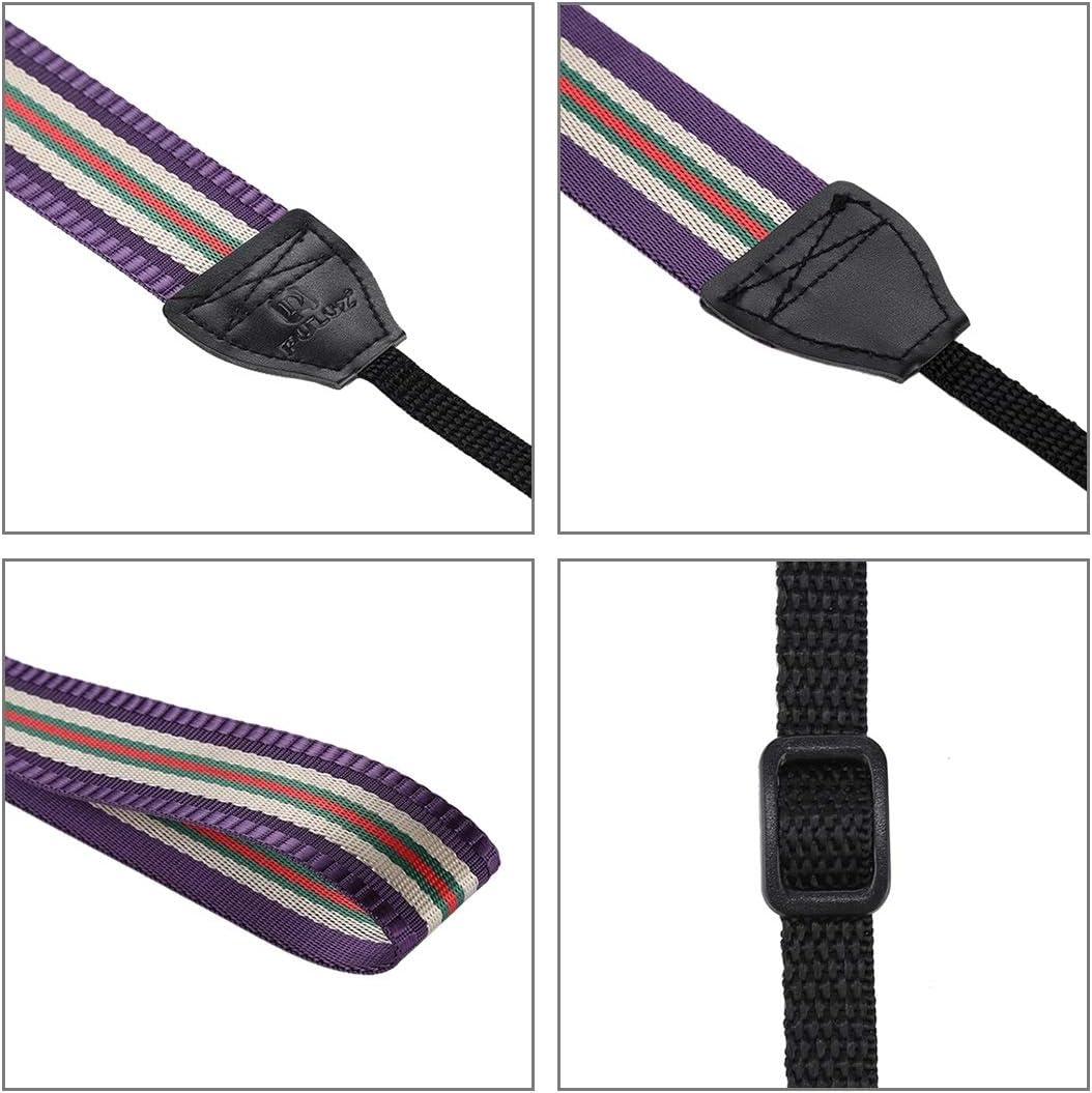 GuiPing Stripe Style Series Shoulder Neck Strap Camera Strap for SLR//DSLR Cameras Durable Color : Blue