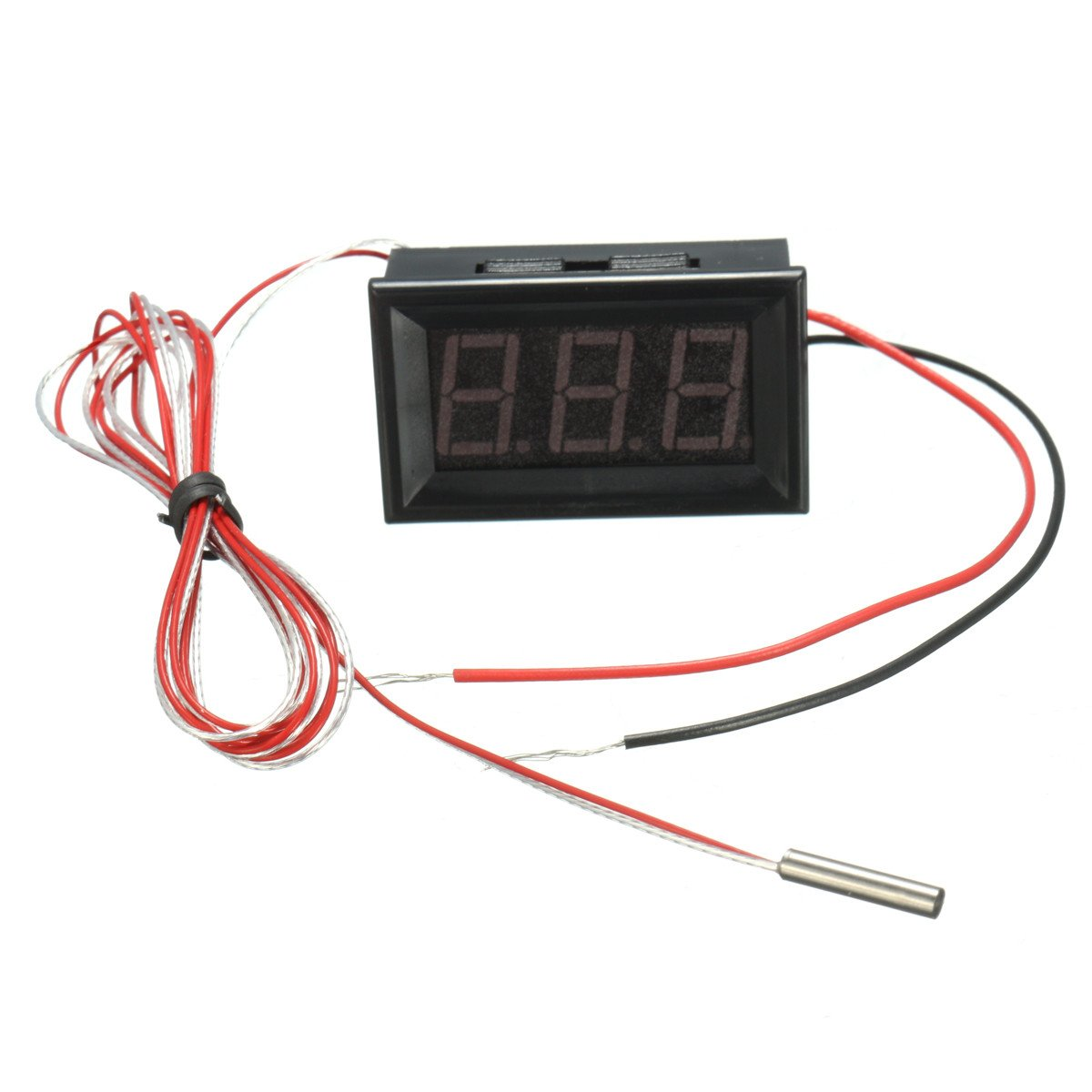 0.56inch 3 Bit -200~450℃ Digital LED Thermometer Temerature Tester PT100 Blue Backlight