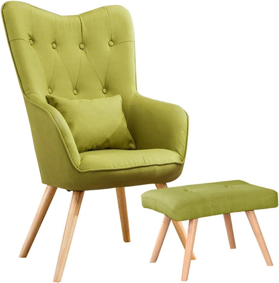 Warmiehomy Modern Occasional Chair Buttoned Linen Fabric