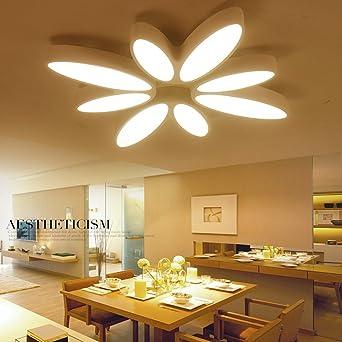 LED Deckenlampe dimmbar Weiß Deckenleuchte Modern Kronleuchter Decke ...