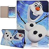 Seedan iPad Mini 1/2/3 Case Cartoon Snowman Pattern Painting Flip Cover Super Slim Light Design Protective Skin
