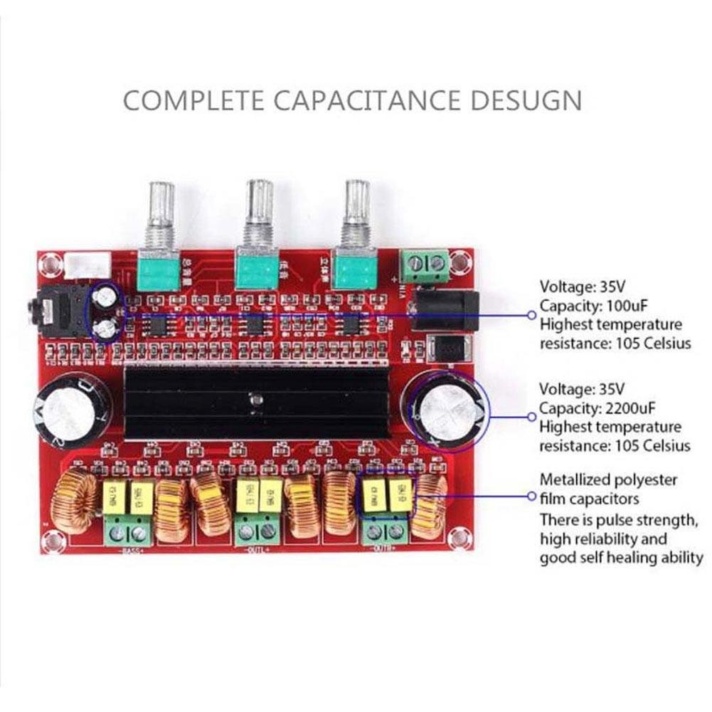Eachbid 21 Channel Digital Subwoofer Amplifier Board Module Amazon Powertronix Inductor Home Kitchen