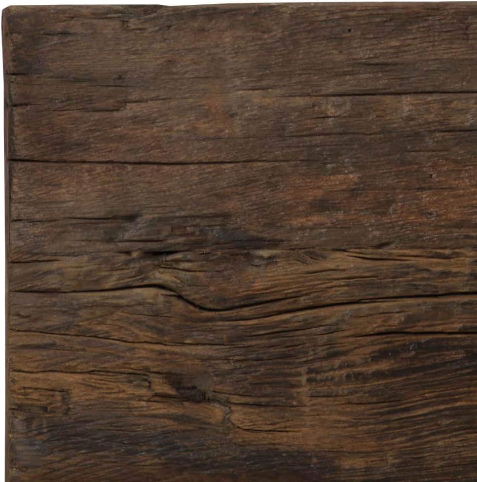 junhaofu Mesas Mesas de Cocina y de comedorMesa Consola traviesas Madera y Acero 118x55x76 cm: Amazon.es: Hogar