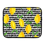 D-MUSE Waterproof Laptop Sleeve, Watercolor Lemon Print, Laptop Protective Bag, Water Repellent Neoprene Computer Sleeve for 13 Inch MacBook Pro, MacBook Air, Notebook