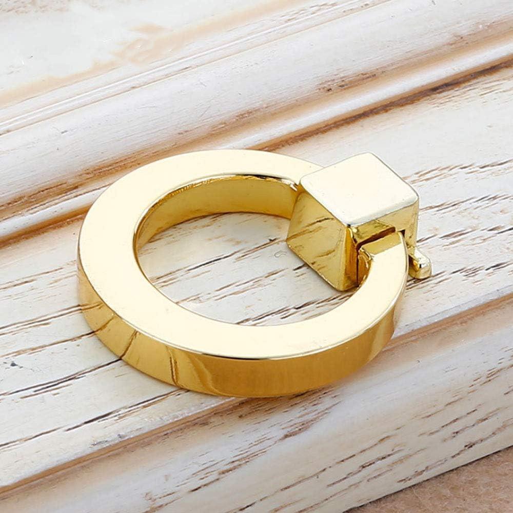 Tirador Manija Anillo cocina gabinetes muebles herrajes estilo tirador para caj/ón dorada para Puertas Armarios de Cocina,Cajones 4 piezas de tirador de anillo armario Anilla para armarios
