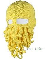 Freefisher Unisex Barbarian Beard Hat Beanie Handmade Octopus Hat